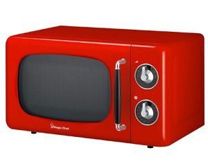 Magic Chef MCD770CR Red Retro Countertop Microwave Oven